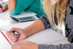 Uczeń kopia daleko dla testa obraz royalty free