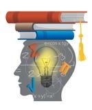 Uczeń matematyka z książkami Zdjęcie Stock
