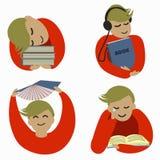 uczeń miłość czytać royalty ilustracja