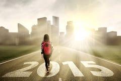 Uczeń podąża sposób sukces Zdjęcie Stock