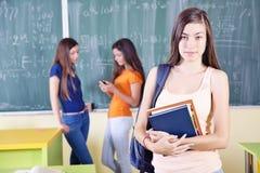 Uczeń przy szkołą Obraz Stock