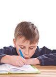 Uczeń robić pracie domowej Fotografia Stock