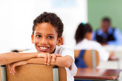 Uczeń w sala lekcyjnej Fotografia Stock