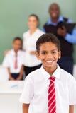 Uczeń w sala lekcyjnej zdjęcie stock