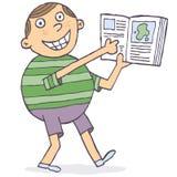 Uczeń z książką ilustracja wektor
