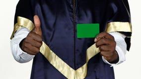 Uczeń zatwierdza zieloną kartę biały z bliska zbiory