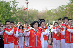 Uczeń orkiestra marsszowa Zdjęcia Royalty Free
