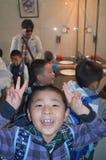 Uczeń w porcelanie obraz royalty free
