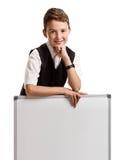 Uczeń z whiteboard Zdjęcie Stock