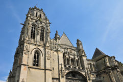 Uczelnianego kościół świętego Gervais święty Protais Gisors w Normie Obrazy Stock