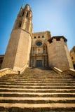 Uczelniany kościół Sant Feliu w Girona mieście zdjęcia stock