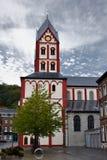 Uczelniany kościół St Bartholomew, Liege, Belgia fotografia stock