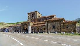 Uczelniany kościół Santa Maria De Arbas Leon w Hiszpania Zdjęcie Royalty Free