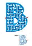 Uczenie abecadła edukacyjna aktywność - listowy b 3d labirynt Royalty Ilustracja