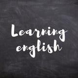 Uczenie angielszczyzn tytuł na Szkolnym Blackboard Zdjęcia Royalty Free