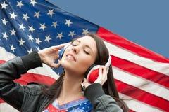 Uczenie język - Amerykańskie Angielszczyzny (dziewczyna opuszczać,) Zdjęcie Stock