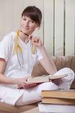 uczenie medycyny uczeń Obrazy Stock