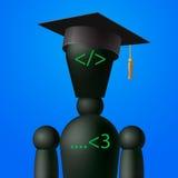 Uczenie sieci projekt i cyfrowanie, programowanie szkoła Zdjęcie Stock