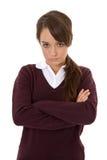 uczennica nieszczęśliwa obraz royalty free