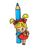 Uczennica ołówek Obraz Stock