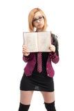 Uczennica z szkoła średnia dyplomem Obrazy Stock