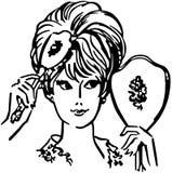 uczesać włosów kobiety Zdjęcia Royalty Free