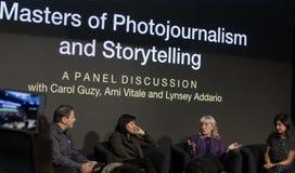 Uczestnicy dyskusji panelowej przy 2018 Photoplus expo zdjęcia royalty free