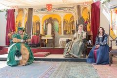Uczestnicy jest ubranym rocznik odzież podczas renesansu Pl Fotografia Stock