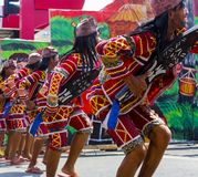 Uczestnicy Kadayawan festiwal wykonują Fotografia Royalty Free