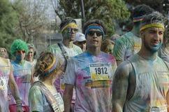 Uczestnicy koloru bieg Rimini po rasy Fotografia Stock