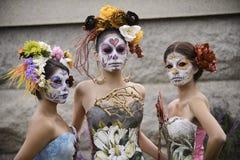 Uczestnicy podczas dia De Muertos zdjęcia royalty free