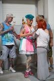 Uczestnicy przy 10 th tatuażu Międzynarodową konwencją w expo centrum Obraz Stock