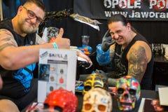 Uczestnicy przy 10 th tatuażu Międzynarodową konwencją w expo centrum Zdjęcia Royalty Free