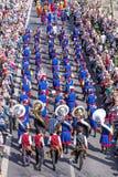 Uczestnicy Sechselauten parada w Zurich zdjęcia royalty free