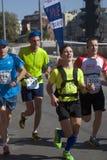 Uczestnicy 5th Moskwa maraton zdjęcie royalty free