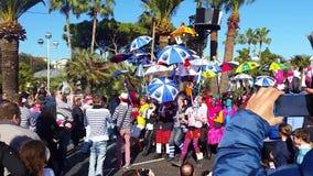 Uczestnicy w Karnawałowej paradzie w Ładnym Carnaval De Ładny 2016 zbiory wideo