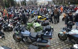 Uczestnicy w motocyklu korowodzie na 28 2015 marszu, Sofia, Bułgaria Obrazy Royalty Free