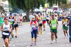 Uczestnicy Współzawodniczy w 2014 kompanów maratonu rajdzie samochodowym Fotografia Royalty Free