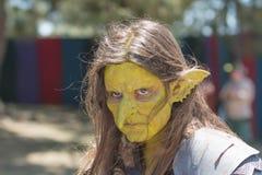 Uczestnik jest ubranym maskę podczas Renesansowej przyjemności Faire Fotografia Stock