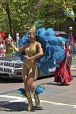 uczestnik kolorowa kostiumowa homoseksualna duma Obrazy Stock