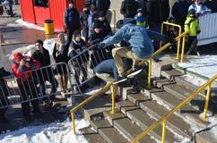Uczestnik w jazda na snowboardzie Zdjęcie Royalty Free