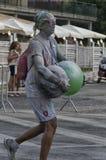 Uczestnik wyczerpujący przy koloru bieg Rimini Zdjęcie Stock