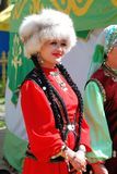 Uczestnika Sabantuy Tatar krajowy kostium Zdjęcia Royalty Free