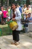 Uczestnika Sabantuy Tatar krajowy kostium Fotografia Royalty Free