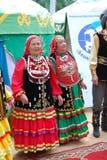 Uczestnika Sabantuy Tatar krajowy kostium Zdjęcie Royalty Free
