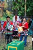 Uczestnika Sabantuy Tatar krajowy kostium Obrazy Stock