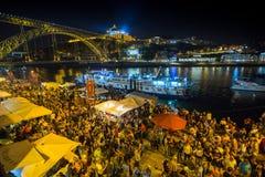 Uczestnika Sao Joao festiwalu narodziny StJohn Baptystyczny Bardzo popularny wakacje świętuje 23-24 Czerwiec przy północą Zdjęcie Royalty Free