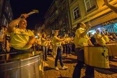 Uczestnika Sao Joao festiwalu narodziny StJohn Baptystyczny Bardzo popularny wakacje Fotografia Stock