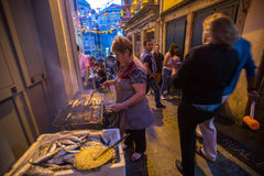 Uczestnika Sao Joao festiwalu narodziny StJohn Baptystyczny Bardzo popularny wakacje Zdjęcie Stock