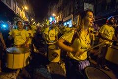 Uczestnika Sao Joao festiwalu narodziny StJohn Baptystyczny Bardzo popularny wakacje Obraz Stock